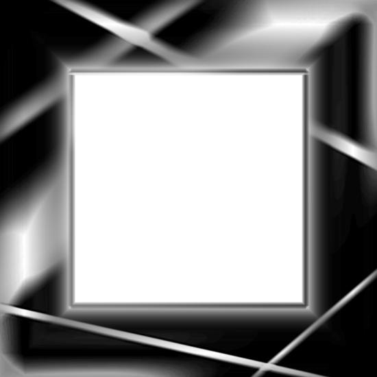 Черно- белая рамка свет, лучи прожектора. PSD исходник.