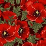 Фон маки, цветы. Картинка в векторе