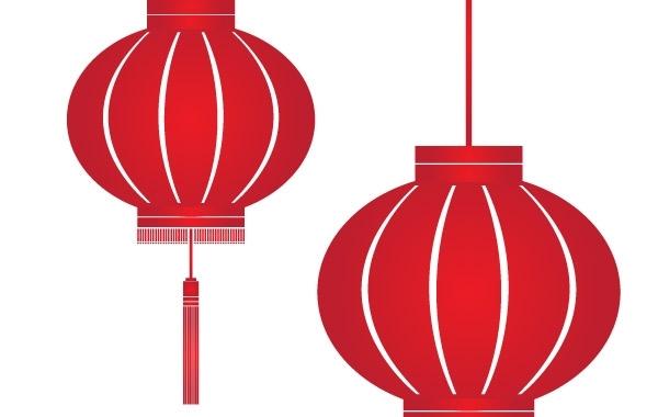 Китайские фонарики в векторе