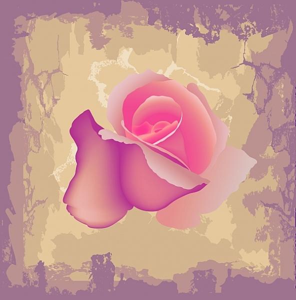 Красная роза на фоне гранж. Высокое разрешение. Обои. Открытка.