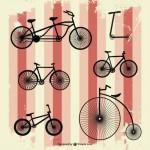 Велосипеды в векторе.