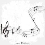 Музыка, ноты, фон в векторе.