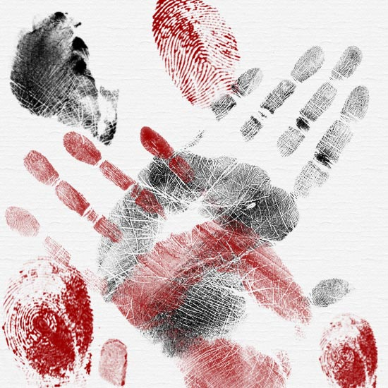 подушечки, фаланги,отпечатки пальцев, отпечатки ладоней, кистей, краска, полиция,кисти для фотошопа,