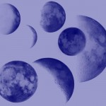 Кисти луны для фотошопа. Планета, молодой месяц, фазы луны.