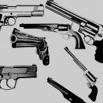 Пистолеты, оружие, стволы, мишень. Кисти для фотошоп.
