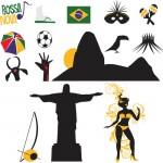 Клипарт Рио де Жанейро, Бразилия. Маска, карнавал.