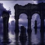 Руины, развалины, колонны. Кисть для фотошоп.