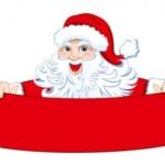Дед мороз с лентой - баннером в векторе