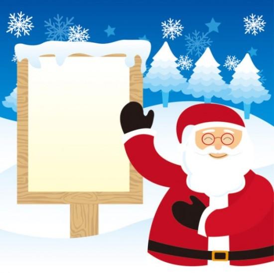 Дед мороз, поздравление, Новый год, рисунок в векторе,  EPS