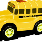 Игрушечный школьный автобус.