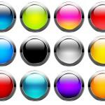 Блестящие , глянцевые кнопки. PSD исходник
