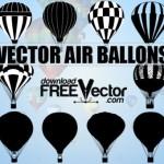 Воздушные шары в векторе. Силуэт, рисунок