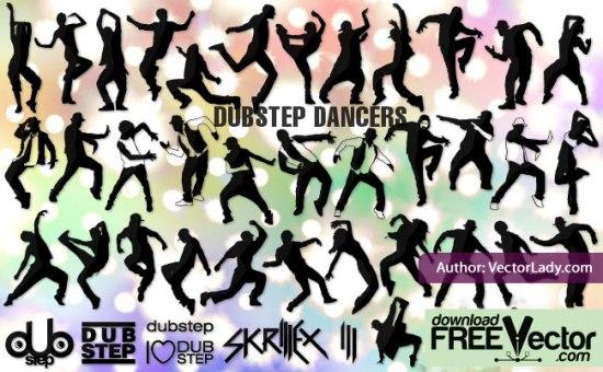 Рисунки танцоров в векторе. Силуэты танцоров. Трафареты.