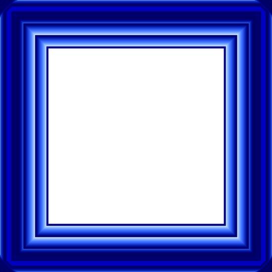 Синяя многослойная рамка psd для фотошопа.