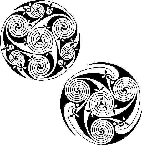 Спиральные кельтские узоры в векторе.