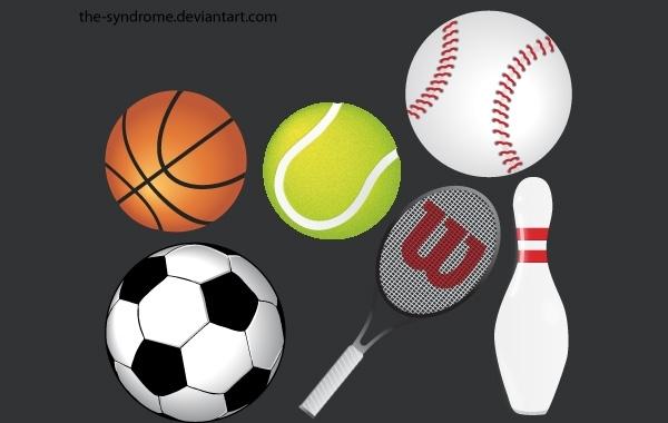 Разные мячи в векторе