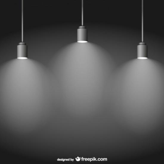 Лампы, освещение. Фон в векторе.