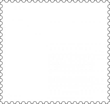 контурная рамка, векторная, почтовая марка, SVG