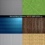 Бесшовные природные текстуры, текстуры металла