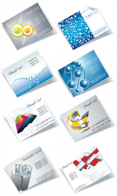 Трехмерные рисунки на визитках в векторе