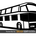 Туристический автобус в векторе