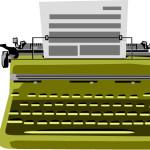Печатная машинка в векторе.