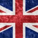 Британский флаг в стиле гранж.