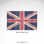 Британский флаг в векторе.