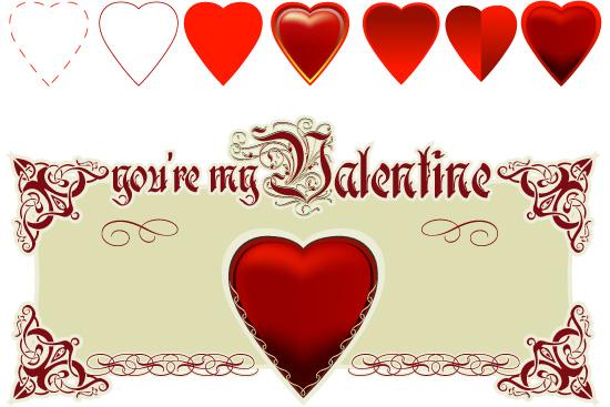 сердца, сердечки, день Святого Валентина, любовь, в векторе, AI