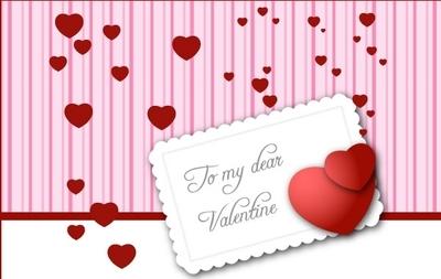 валентинка, сердечки, сердца, рисунок в векторе, EPS