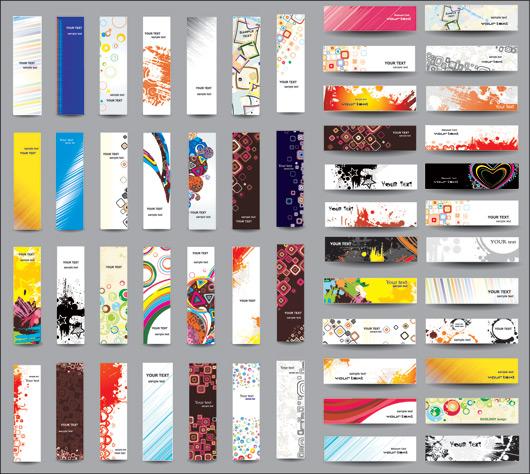Макеты баннеров для сайтов и визиток в векторе
