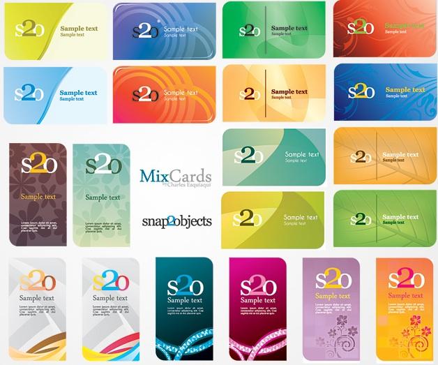 Пакет шаблонов, макетов визиток в векторе. Векторные визитные карточки.