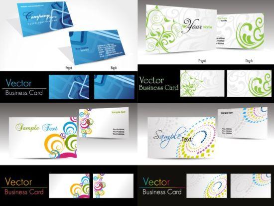 Двухсторонние визитки в векторе