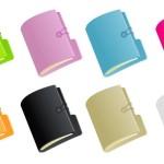 Папки разноцветные в векторе