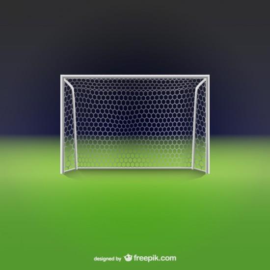футбол, футбольное поле, векторные ворота, в векторе, AI, EPS