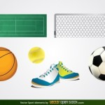 Спортивные товары в векторе