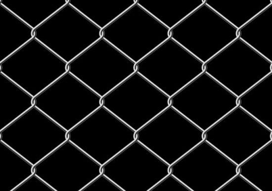 забор, ограда, металлическая сетка, векторный, фон, EPS