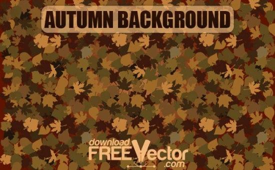 Осенний фон в векторе