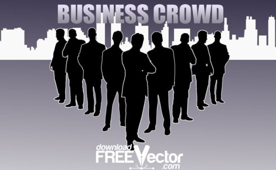 деловые люди, бизнесмены, менеджеры, группа, организация, компания, силуэт в векторе, SVG, EPS