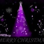 Фиолетовая новогодняя елка