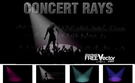 концерт, певец, певица, микрофон, прожектор, лучи, изображение в векторе, EPS