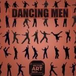 Векторные силуэты танцоров мужчин в векторе
