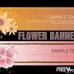 Цветочные баннеры в векторе
