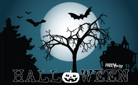 Хэллоуин, летучие мыши, ночь, векторное изображение, форматы PNG, EPS