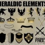 Щит, корона, двуглавый орел, лев в векторе. Геральдические элементы