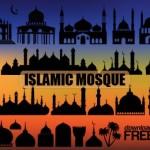 Мечети и минареты в векторе. Ислам
