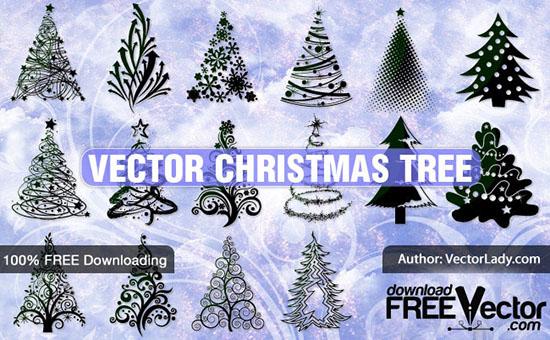 Рождественские елки. Векторы и рисунки