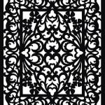Сложный черно-белый узор в векторе. Шаблон. Трафарет.