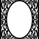 Черно-белая рамка с узором.