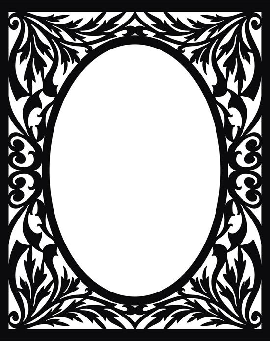 винтаж, винтажная черно-белая рамка, узор,  рамка в векторе, формат EPS